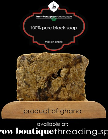 african black soap made in ghana at the brow boutique