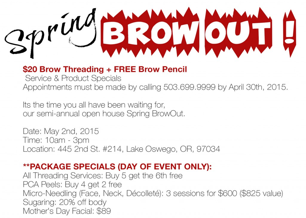 Spring Brow Out !