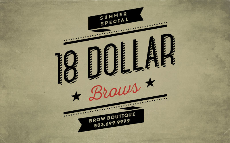 $18 eyebrow threading special at the brow boutique